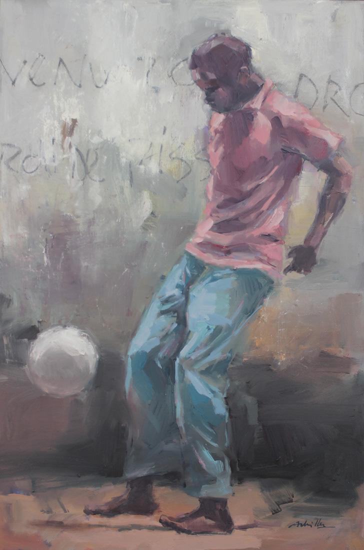"""Ballon fatchê / 35x24"""" / Huile"""