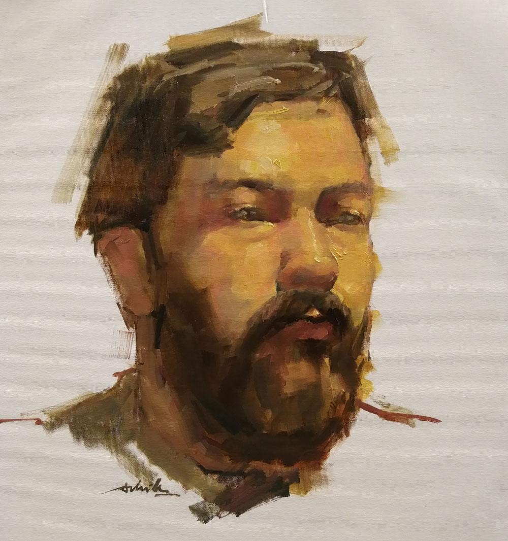 Portrait / 16x20 / Huile sur toile
