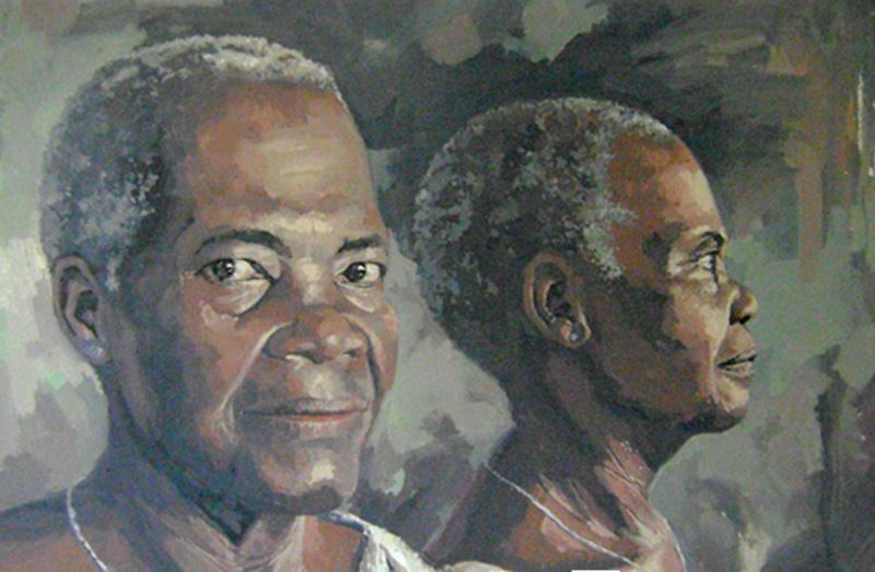 Portrait kwagn - 2 / Huile