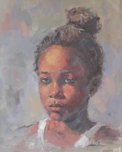 Portrait / 16x20 / Huile sur papier