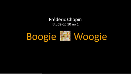 """Chopin Etude op. 10 no. 1, """"Boogie Woogie"""""""
