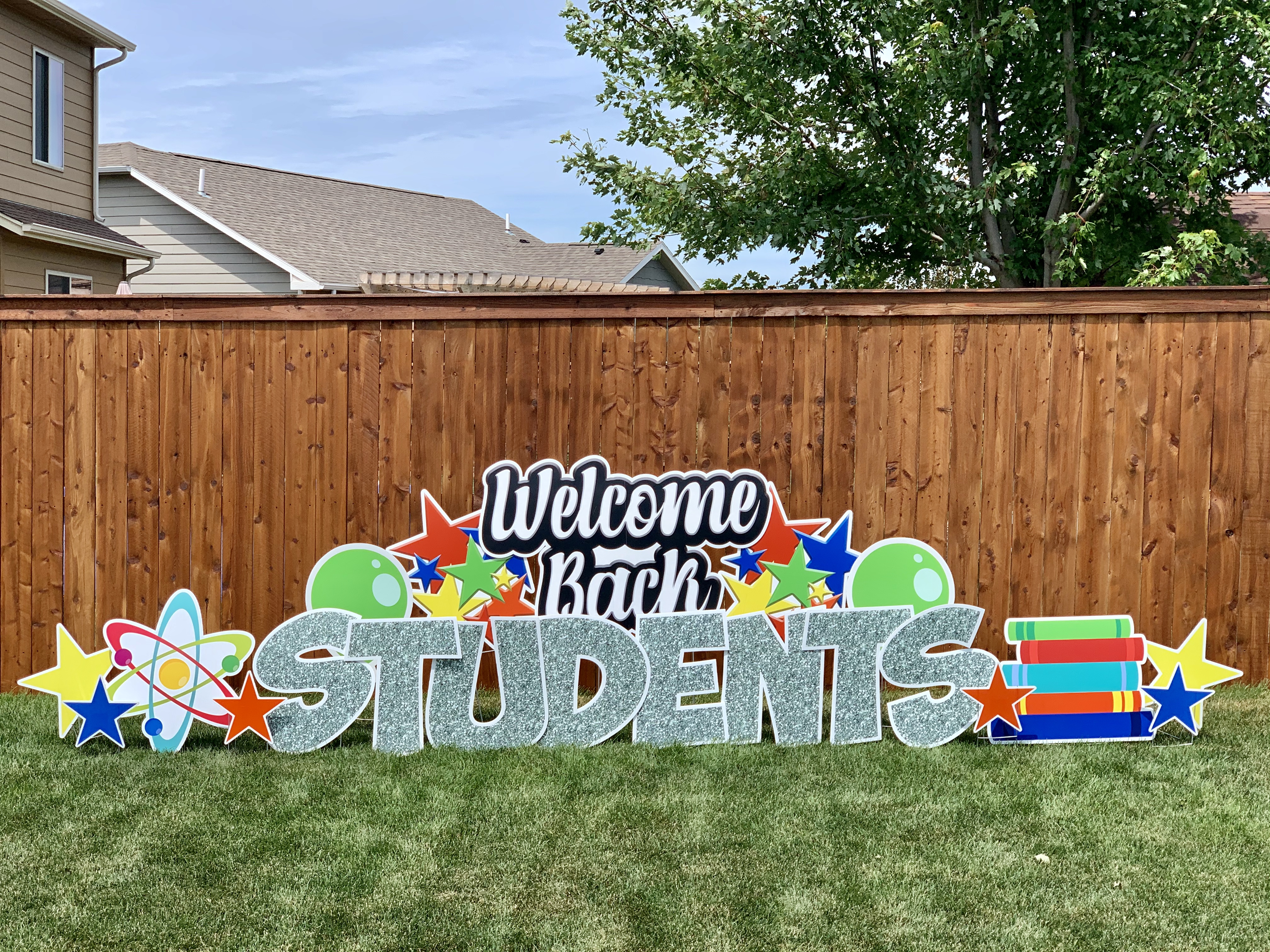 Welcome Back Students Yard Sign