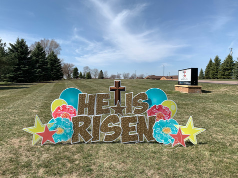 Easter Holiday Yard Sign