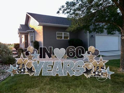 Anniversary 60 years Yard Sign