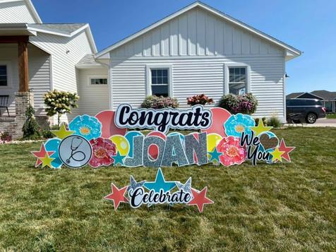 Congrats Retirement Custom Yard Sign