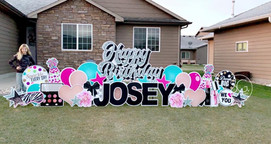 Happy Birthday Yard Sign