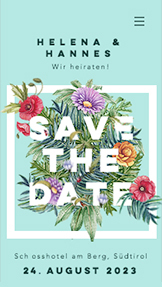 Hochzeit & Feiern website templates – Save the Date