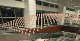 Kinetikus installáció a Changi reptéren