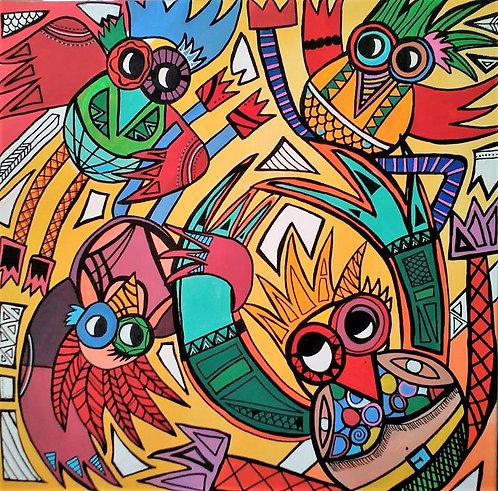 Hélène BOISSIN - Petits Oiseaux dansant au Soleil