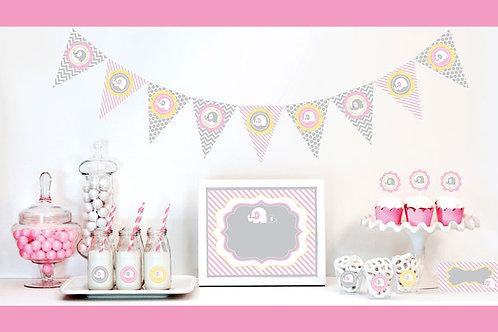 Pink Elephant Decorations Starter Kit