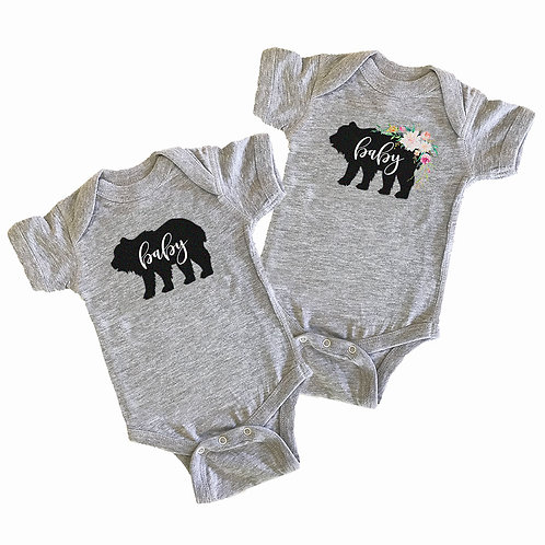 Rustic Baby Shower Bodysuit