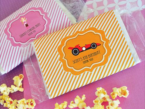 Personalized MOD Kid's Birthday Microwave Popcorn
