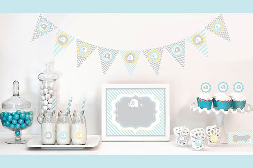 Blue Elephant Decorations Starter Kit