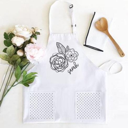 Women's Floral Doodle Aprons