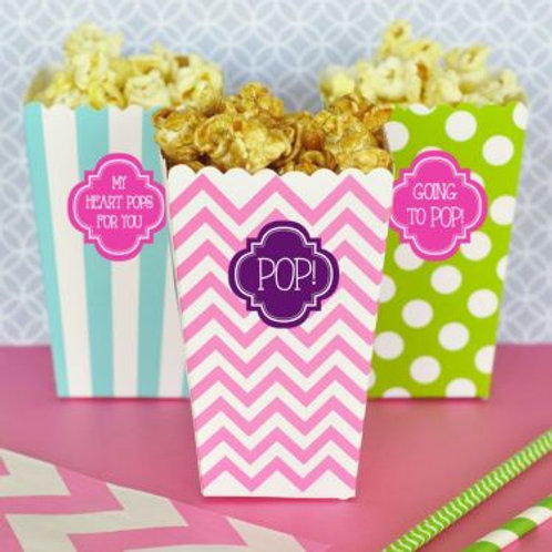 Personalized Popcorn 'n Treats Boxes (Set of 12)