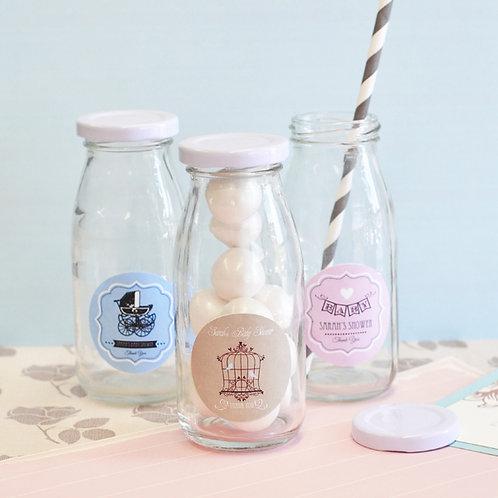 Vintage Baby Personalized Milk Bottles