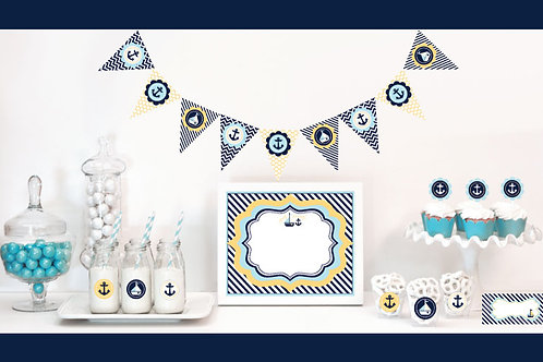 Nautical Baby Shower Decorations Starter Kit