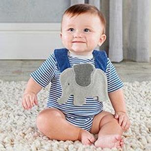Little Peanut Elephant Layette and Bib Gift Set