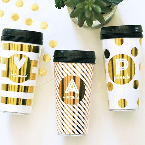 Metallic Foil Travel Coffee Mug