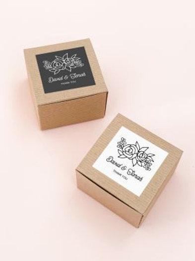Floral Silhouette Favor Boxes