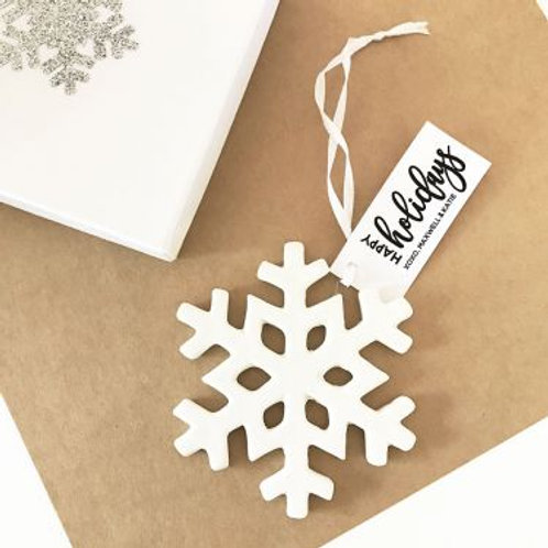 Personalized Snowflake Ornaments