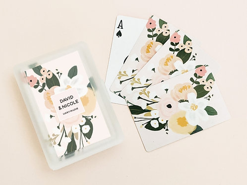 Boho Floral Playing Cards