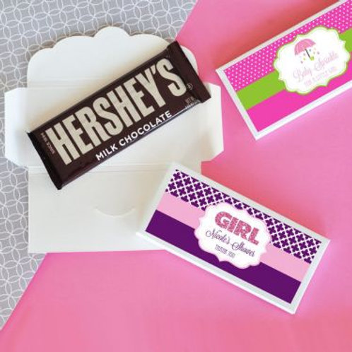Personalized Baby Shower Candy Wrapper Covers