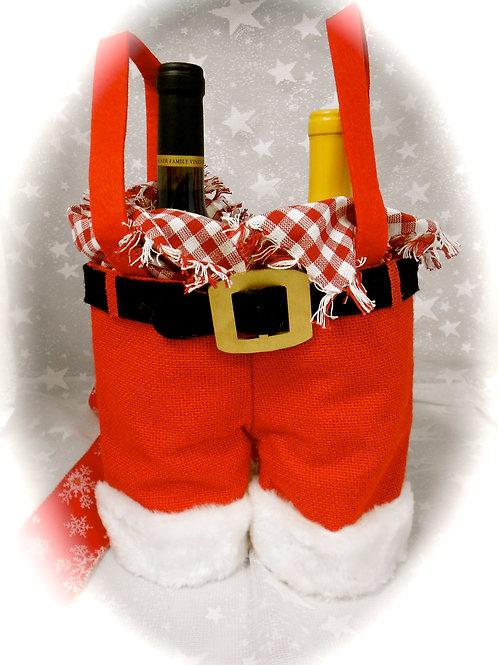 Santa Pants with wine    #0588