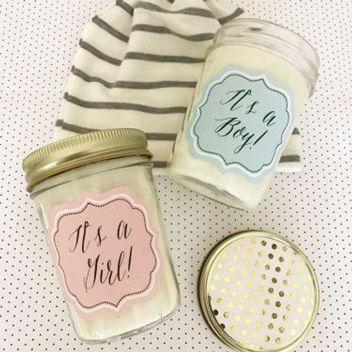 Baby Mason Jar Candle