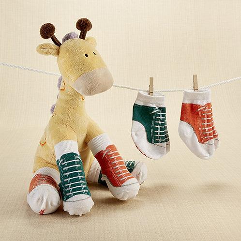 """Herbie in Hightops"" Plush Giraffe & Socks"