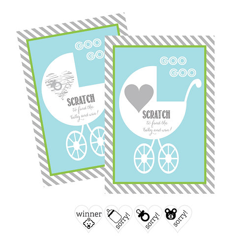 Blue Baby Carriage Scratch Off Game Cards