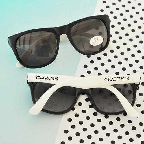 White Graduation Sunglasses (set of 6)