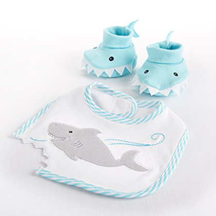 Chomp & Stomp - Shark Bib and Booties Gift Set