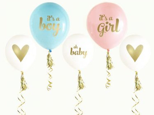 Gold BABY SHOWER Balloons (set of 3)