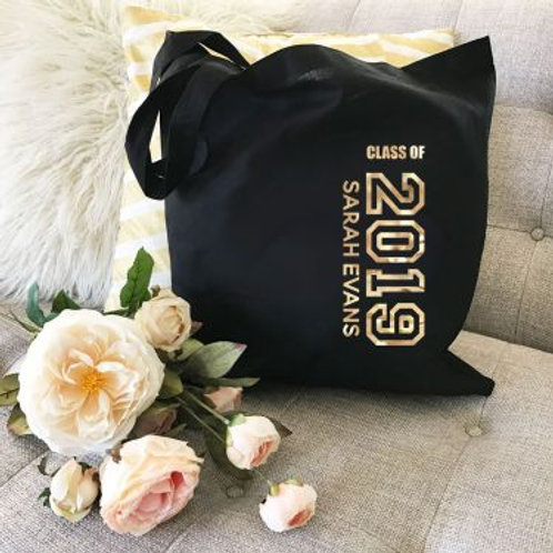 Personalized Graduation Tote Bag