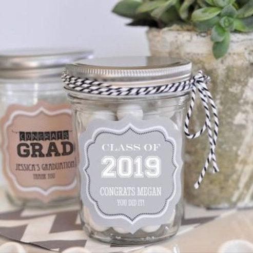 Personalized Graduation Mini Mason Jars