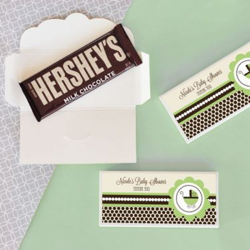 Personalized Green Baby Shower Candy Wrapper Covers