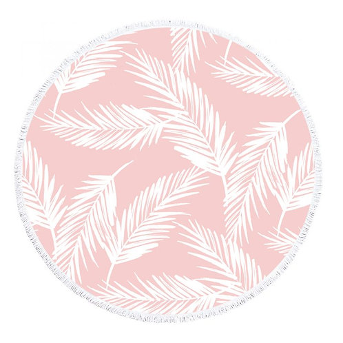 Tropical Pink Round Towel