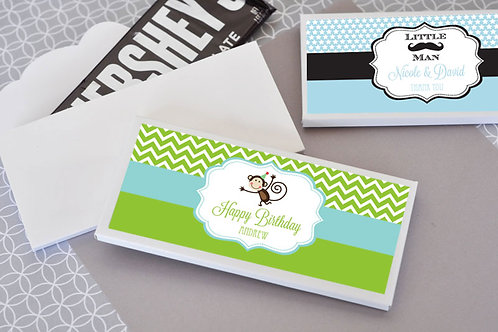 Personalized MOD Kid's Birthday Candy Bar Covers
