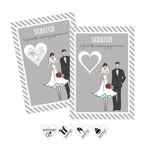 Bride Groom Scratch Off Game Cards