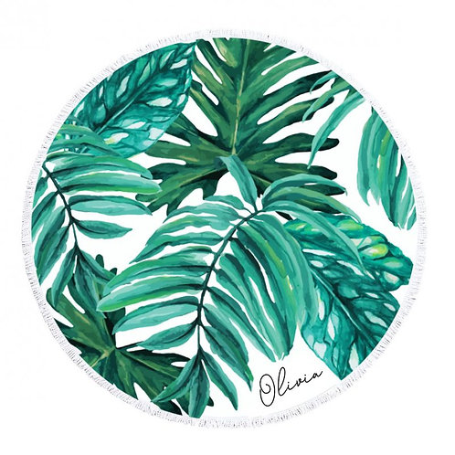 Personalized Palm Leaf Towel