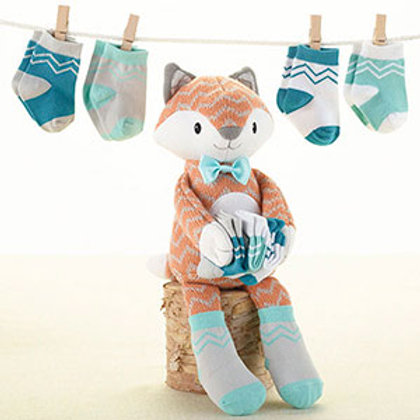 """Mr. Fox in Socks"" Plush Plus Socks for Baby"