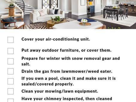 October Home Maintenance Tips