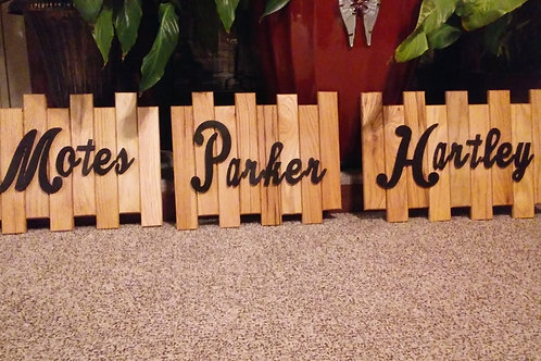 Custom Oak Sign