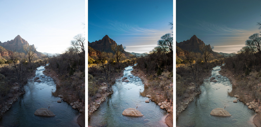 Color Grading and Processing of Landscapes
