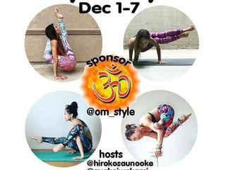 Yoga challenge in December