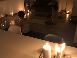 Candle meditation on a full moon day