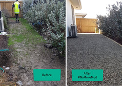 Garden Box Permeable Paving Before and A
