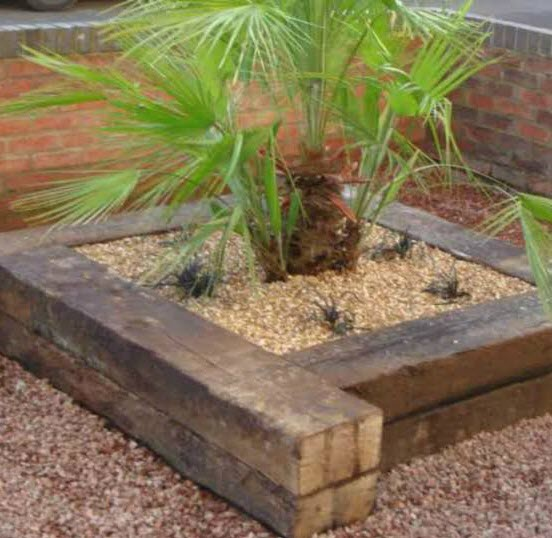 Aged Rail Sleeper Planter