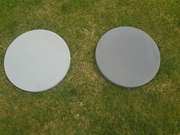 Round Paver 400 x 400 - plain and charco